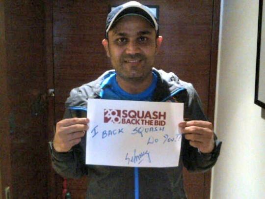 Olympic Bid: Sachin, Viru, Bhajji Bats for Squash