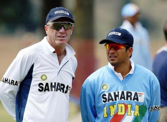 John Wright & Sachin Tendulkar