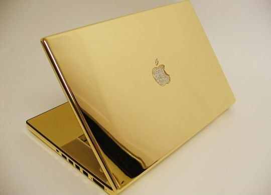 macbook gold plated