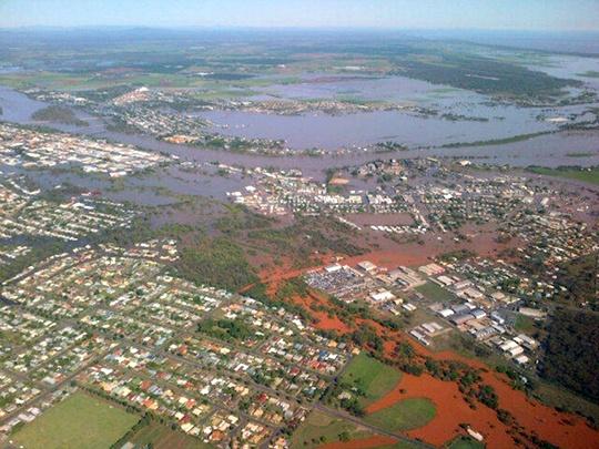 Several Australian Towns Flooded
