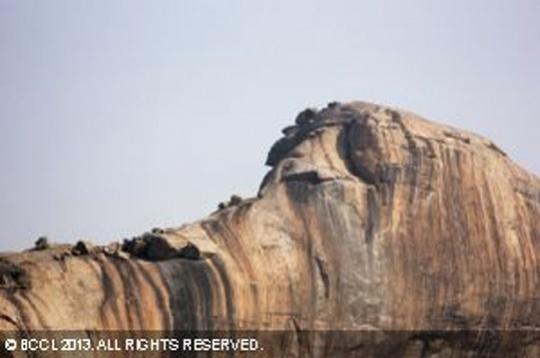 Yaanamalai's Elephant Head Shaped Rock