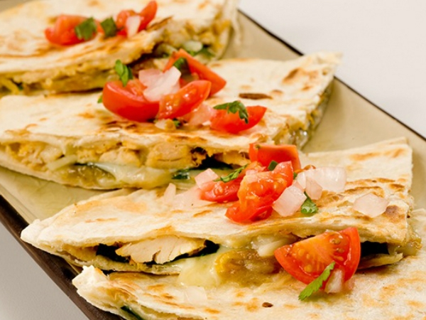 Healthy Snacks: Crispy Smoked Chicken And Peppered Quesadillas
