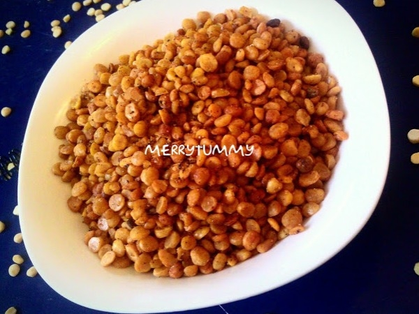 Protein Rich Healthy Snack: Baked Chana Dal Recipe