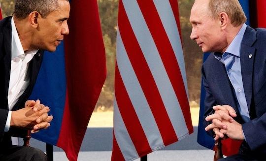 President Barack Obama meeting with Russian President Vladimir Putin