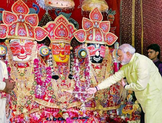 Narendra Modi performs puja of Lord Jagannath