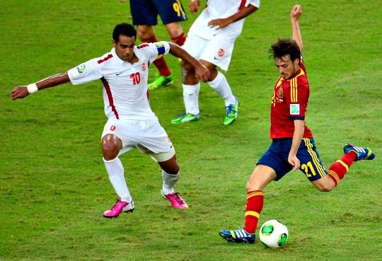 Spain Romp to 10-0 Win Over Tahiti