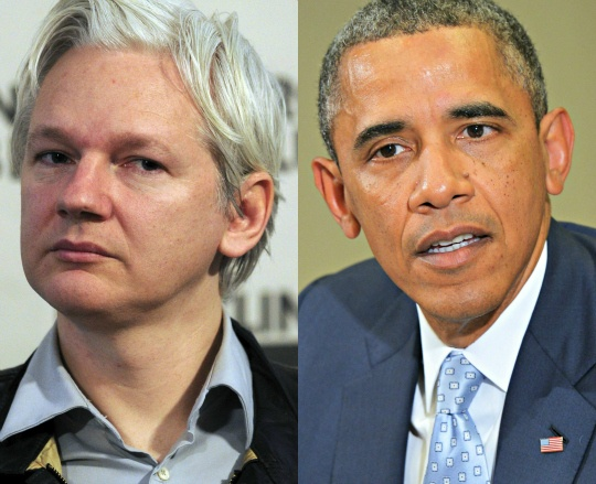 Julian Assange, Barack Obama