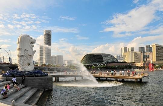 Singapore's Merlion Statue