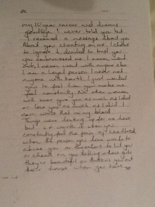 Jiah Khan Letter
