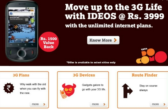 Tata Docomo Cuts 2G, 3G Data Charges by 90%