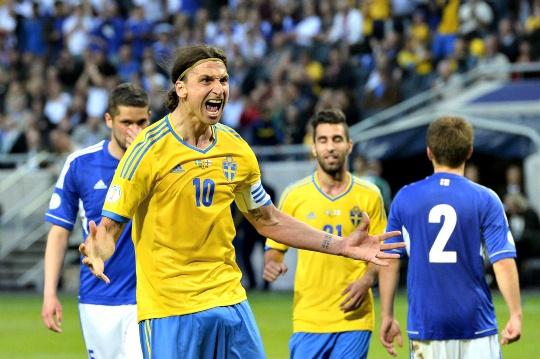 Ibrahimovic Steers Sweden to Victory