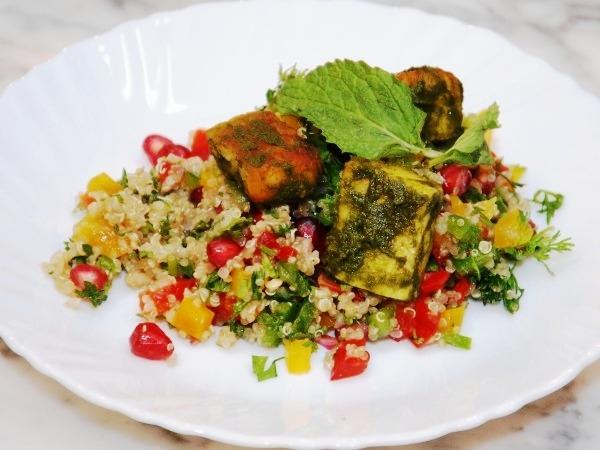 Healthy Recipes: Hermoula Haloumi And Quinoa Salad