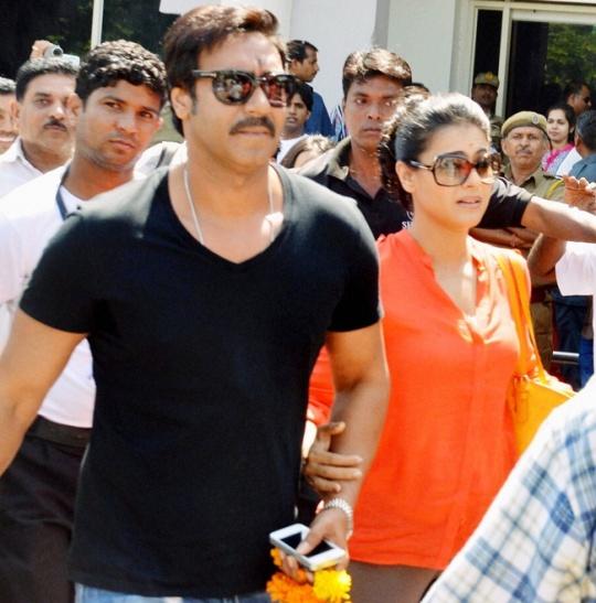 Ajay Devgn and his wife Kajol
