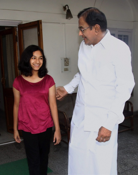 P Chidambaram's Granddaughter's Day in Parliament