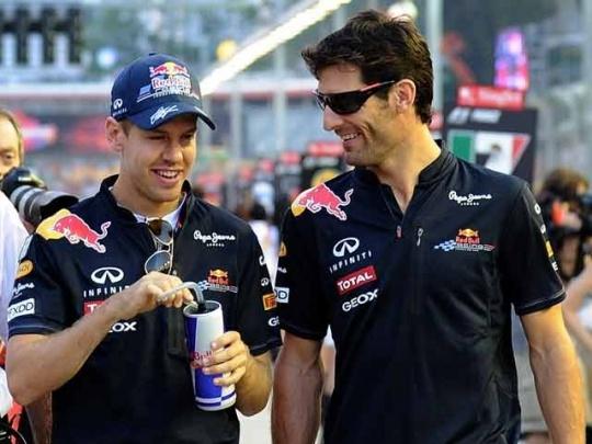 Webber and Vettel