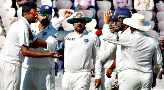 India Crush Australia by an Innings and 135 runs