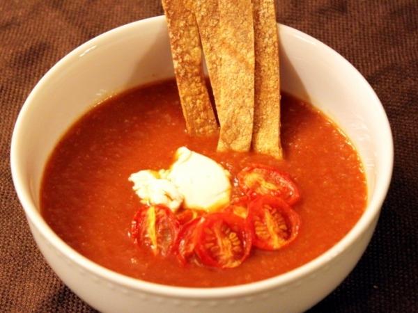 Vegetarian Soup Recipe: Vegetarian Tortilla Soup