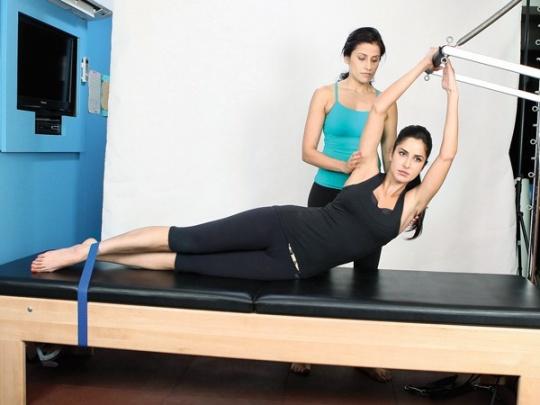 Katrina Kaif with her trainer, Yasmin Karachiwala