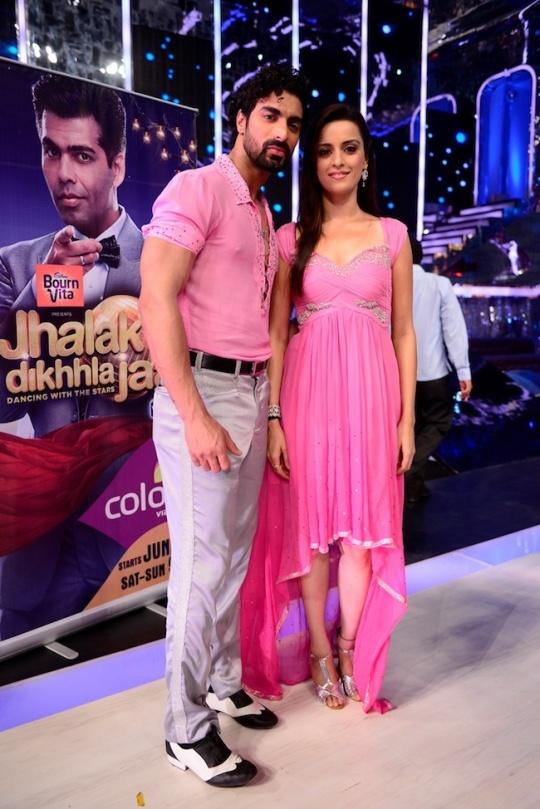 Ekta Kaul with choreographer Tushar