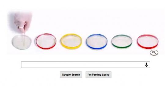 Google Doodles Petri dishes