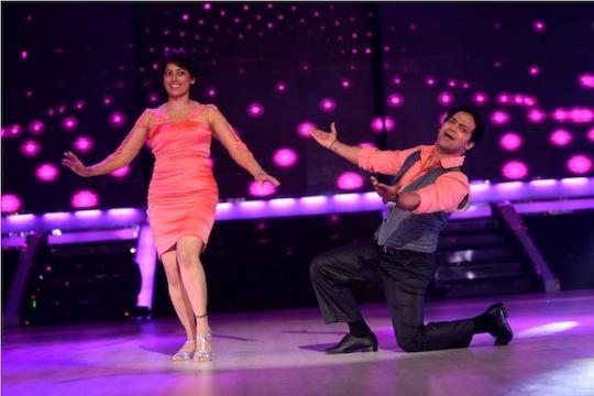 Meghna Malik with her choreographer Savio