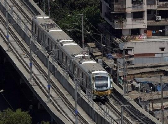Mumbai Metro Trial Run