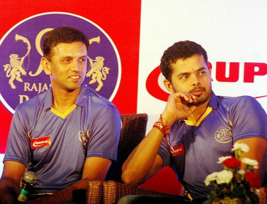 Rahul Dravid and Sreesanth