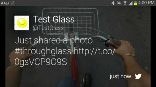 Twitter for Google Glass