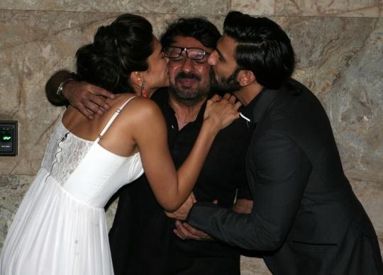 Sanjay Leela Bhansali, Deepika Padukone and Ranveer Singh