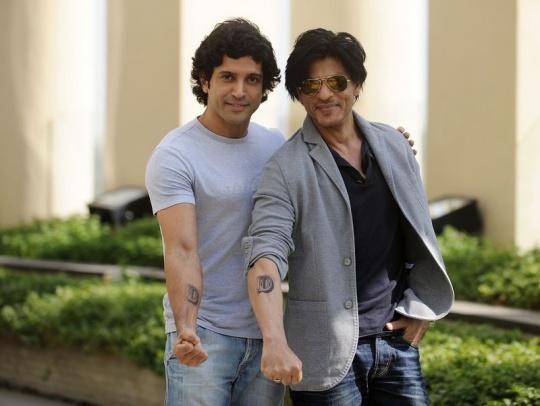 Shah Rukh Khan and Farhan Akhtar