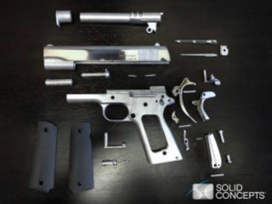 Metal Gun Produced Using 3D Printer