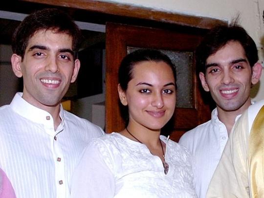 Sonakshi Sinha, Luv Sinha, Kush Sinha