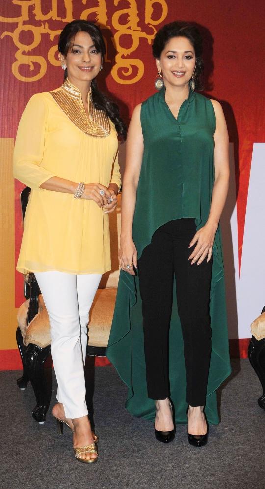 Juhi Chawla and Madhuri Dixit-Nene
