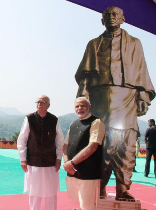 Narendra Modi and senior BJP leader L K Advani