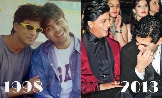 Shah Rukh Khan and Karan Johar Then & Now