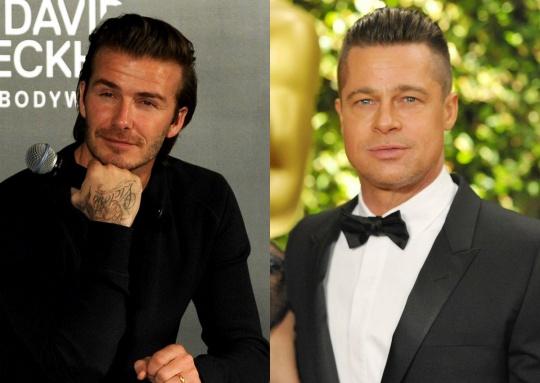 Brad Pitt and David Beckham