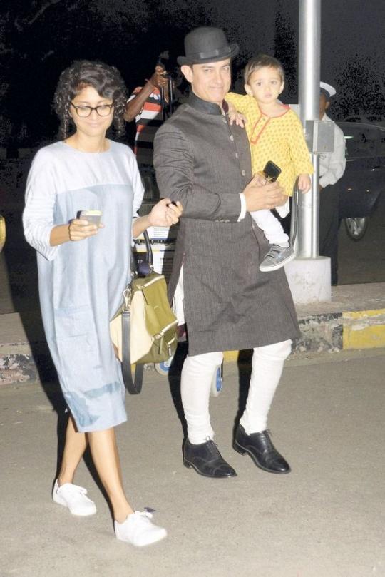 Aamir Khan, Kiran Rao, Azad Rao Khan