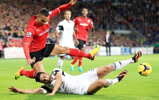 Cardiff Beat Swansea 1-0 in Welsh Derby