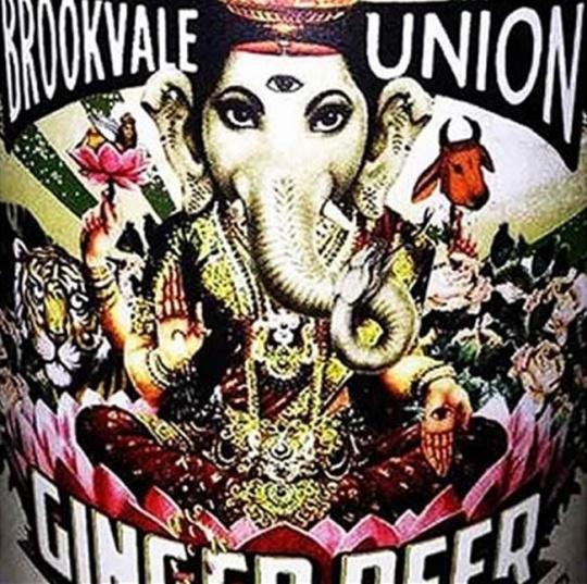 Ganesha Laksmi on beer label