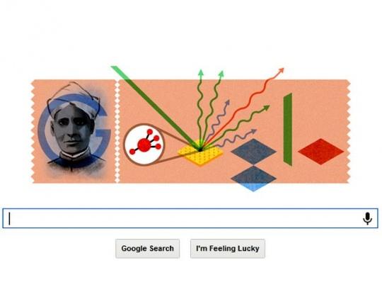 Google Doodle C V Raman