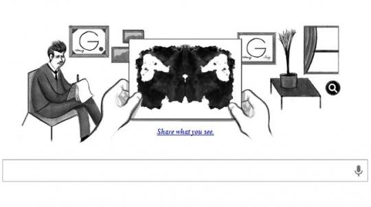 Google Doodle Rorschach test