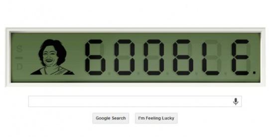 Google Shakuntala Devi Doodle