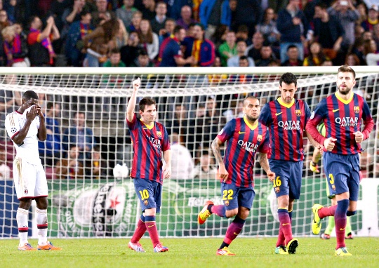 Messi Magic Returns as Barca Into Last 16