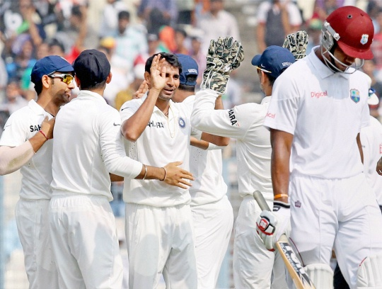 India Bundle Out Windies for 234 Runs