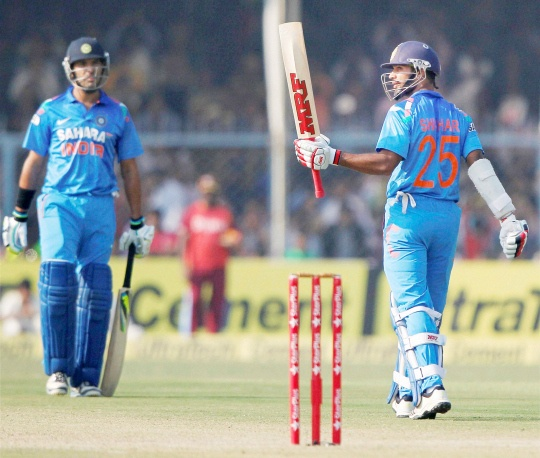 Ton Up Dhawan Leads Indian Run Chase