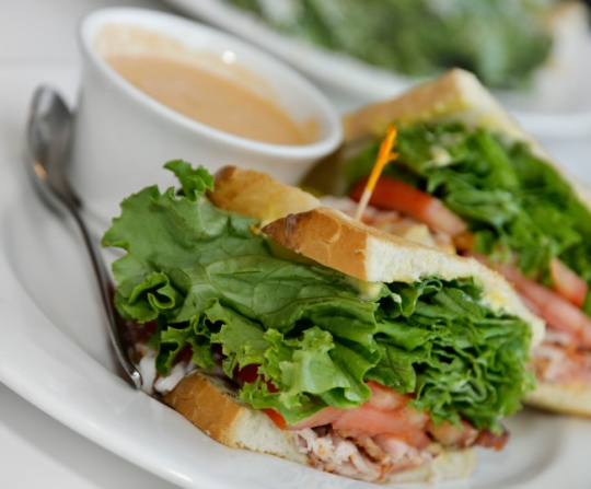 Carrot salad sandwich