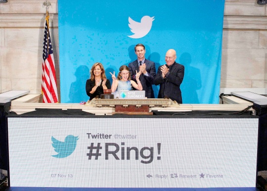 Twitter Hits Wall Street With A Bang