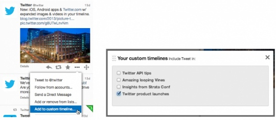Twitter Allows Customized Timelines
