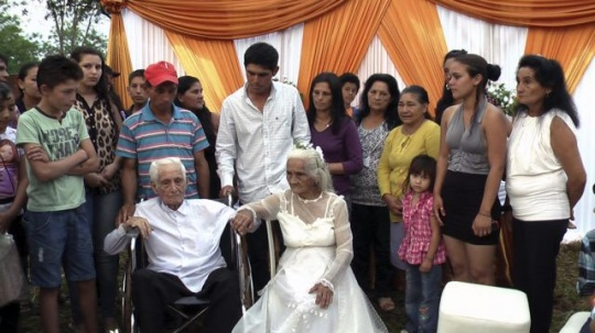 103-year-old groom, the bride is 99