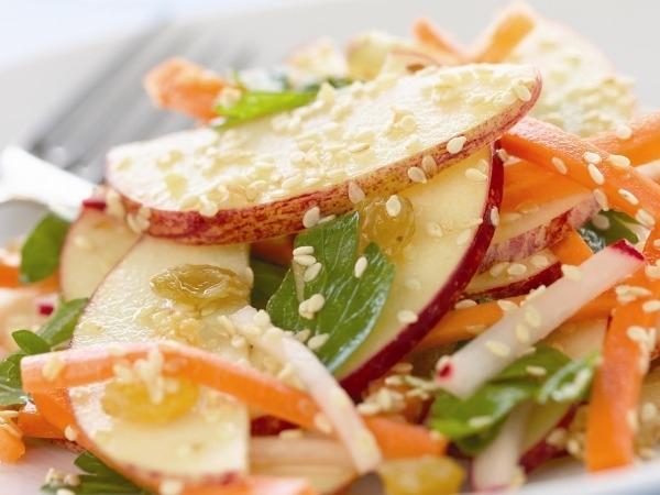 Healthy Snack Recipe: Sesame Apple Salad